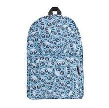 Alien Emoji Cream 3D Printing backpack mochila 2016 Fashion New Who Cares  backpacks for teenage girls