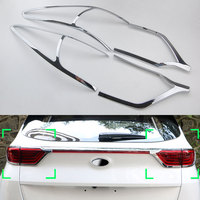 4pcs ABS Chrome Rear Taillight Lamp Cover Trim Surround Bezel For Kia Sportage 2017 2018 Car Styling Decorative Accessories New