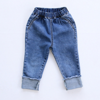 HT973 Fashion Spring Summer Baby Girls Jeans Fashion Kids Denim Pants Winter Autumn Children's Clothing Boys Jeans