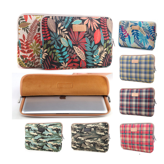 2019 brand canvas Laptop Bag case pouch sleeve for 11 12 13 14 15inch Notebook PC ,Sleeve for macbook Air pro13.3 ipad air