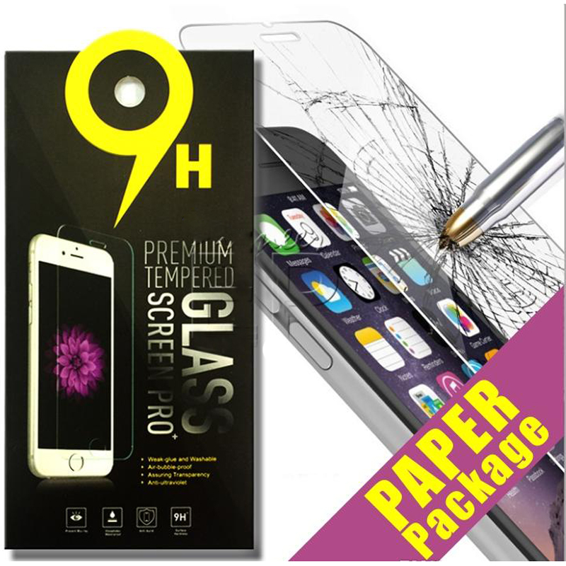 200pcs 0.26mm Premium Tempered Glass Screen Protector Anti-Shatter Safe Guard 9H 2.5D Film for iPhone X 8 7 6 6S Plus 5 5S
