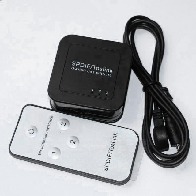 Hotspot MiroBox HSA693 TosLink Interruptor 3 em 1 out/controle IR/Support retiming sinal/até 40 m (pés) distância