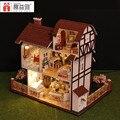 Miniatura de Móveis Casa de Bonecas artesanais Diy Casas de Boneca Em Miniatura Casa De Bonecas De Madeira de Presente de Aniversário de Brinquedos Para As Crianças Os Adultos K013