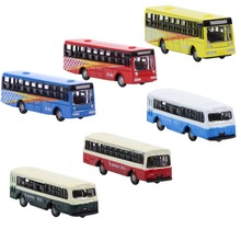 6 шт. литые под давлением модели автобусов 1: 160 макет поезда BS150 Бесплатные колеса Модель поезда N масштаб железнодорожное моделирование