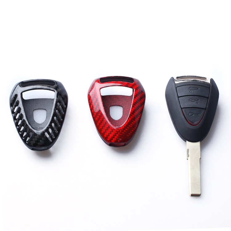 Carbon Fiber Key Case Covers Key Shell For Porsche 911 997 Cayman Boxster 987 2005 2006 2007 2008 Car Accessories все цены