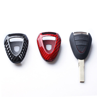 Carbon Fiber Key Case Covers Key Shell For Porsche 911 997 Cayman Boxster 987 2005 2006 2007 2008 Car Accessories