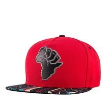 Africa Map New Fashion Hip Hop Cap Men Women Red Hat Adjustable Streetwear