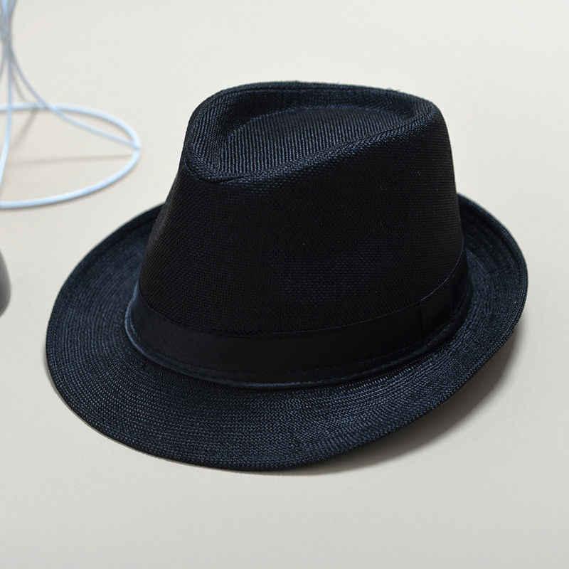 Rơm Unisex Fedora Hat Mặt Trời Panama Trilby Crushable Mens Lady Có Thể Gập Lại Đi Du Lịch Với Màu Đen Vành Đai Bán Hàng Nóng Cap