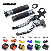 For KAWASAKI Z750 Z1000 VERSYS1000 ZZ-R600 motorcycle clutch levers brake folding adjustable handlebar hand grips