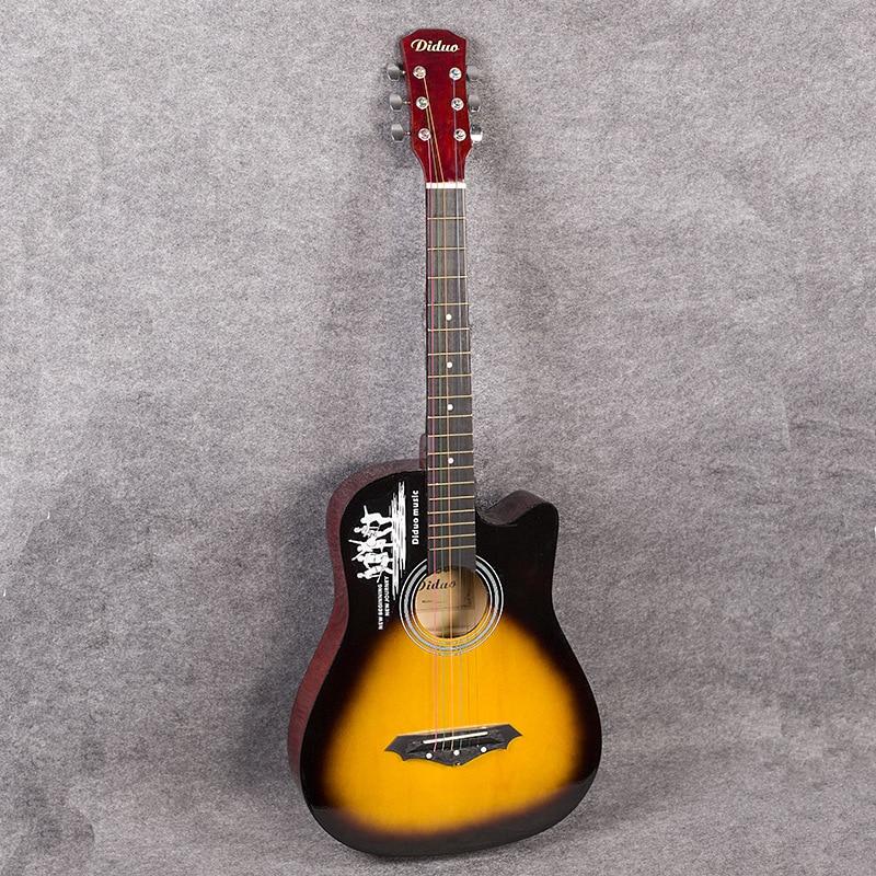 Origin DiDuo Brand Missing Angle Soprano Concert Tenor Acoustic 38 Inch Guitar  Guitarra Picea Asperata Zebra Wood Plug-in