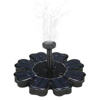 花の形状ソーラーフローティング噴水池ガーデン装飾