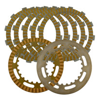 A set Motorcycle Engine Parts Clutch Friction Plates Kit & steel plates For SUZUKI AN650 AN 650 SKY WAVE / SKYWAVE 650