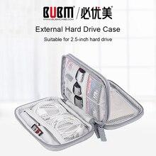 BUBM 2.5 harici sabit disk Kılıfı 2.5 Inç sabit disk HDD Koruma Kablosu çanta Kutusu Elektronik Seyahat Organizatör