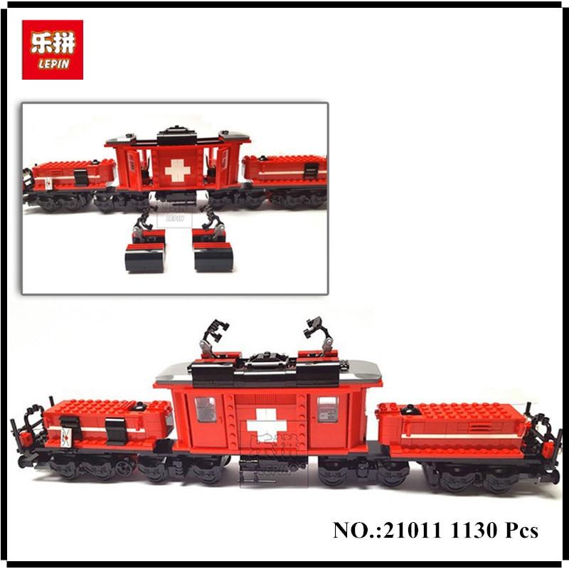 rl 21011 02 IN-STOCK Lepin 21011 1130Pcs Technical Series The Medical Changing Train Set Children Educational Building Blocks Bricks Toys
