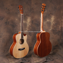 Half cutaway  36 GSMINI guitar With Solid Spruce top /Mahogany Body,,Electric guitarras,JD-M312SC