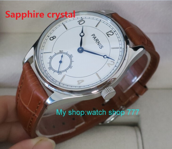 Sapphire crystal 44 mm PARNIS White dial Asian 6498/3621 Mechanical Hand Wind men watches Mechanical watches wholesale rnm06 44 mm parnis white dial asian 6498 3621 mechanical hand wind men watches mechanical watches wholesale 389