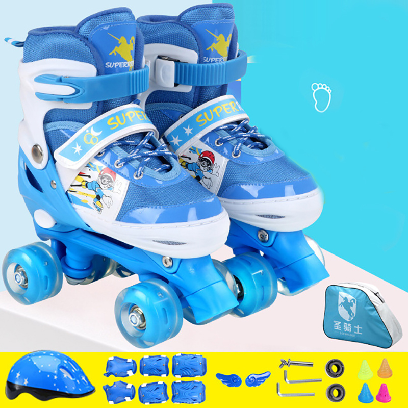 1 Pair Skates Shoes Double-line Parallel Skates Four-Wheel Skates For Beginner Adult Kid Children  Patines De 4 Ruedas