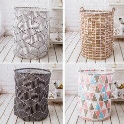 Impermeable plegable cesta oara ropa lavandería con asas de almacenamiento Bin a casa organizador de baño, almacenamiento de vivero sucio cesta de lavandería