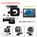 For Gopro Hero 3 3+ Black 30M Extend Diving Waterproof Housing + Lcd display screen For GoPro Accessories