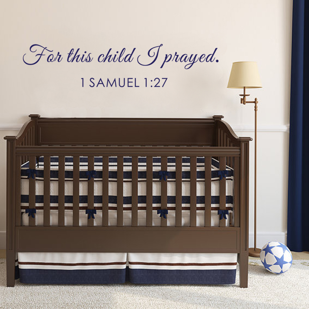 Popular Bible Verse DecorBuy Cheap Bible Verse Decor Lots From - Bible verse nursery wall decals