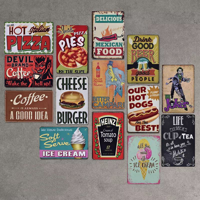 3D Poster Girls Style Vintage Tin Sign Bar Cafe Home Wall Decor Metal Poster