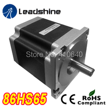 Free Shipping GENUINE Leadshine 86HS65 2 Phase NEMA 34 Hybrid Stepper Motor with 4.6 N.m 4.3 A length 96 mm shaft 12.7
