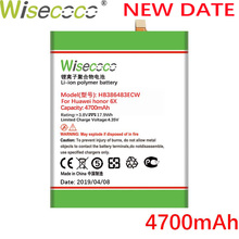 Wisecoco HB386483ECW 4700mAh New Battery For Huawei honor 6X Maimang 5 G9 Plus MLA-AL00 MLA-AL10 Phone high quality battery
