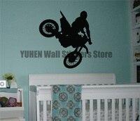 이동식 오토바이 벽 스티커 익스트림 스포츠 비닐 데칼 레이싱 야외 성능 사람들이 점프 장식 배경 화면