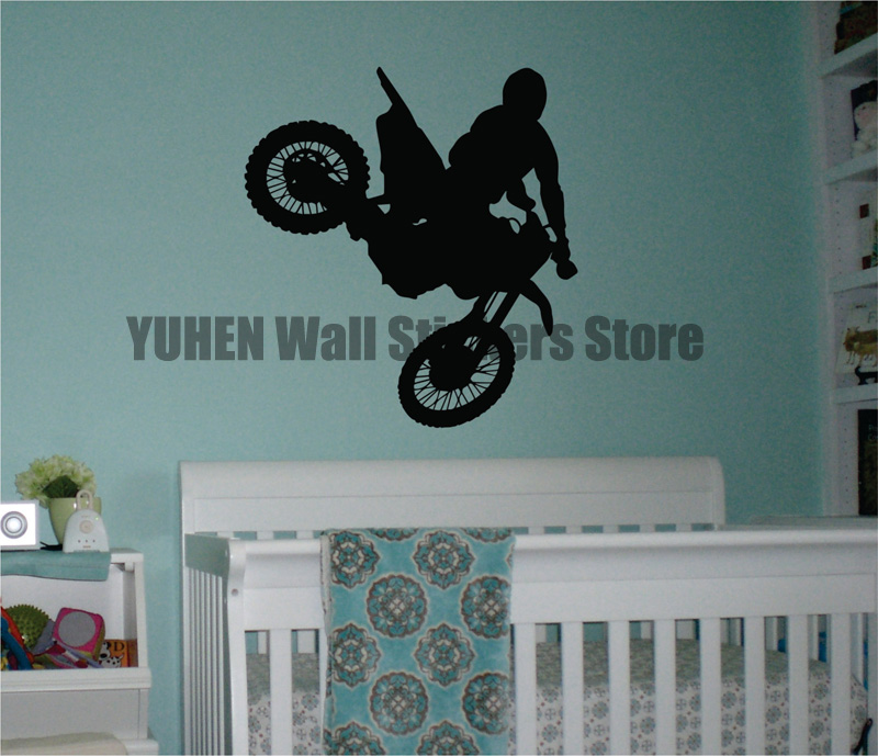 Removable Motorcycle Wall Stickers Extreme Sports Vinyl