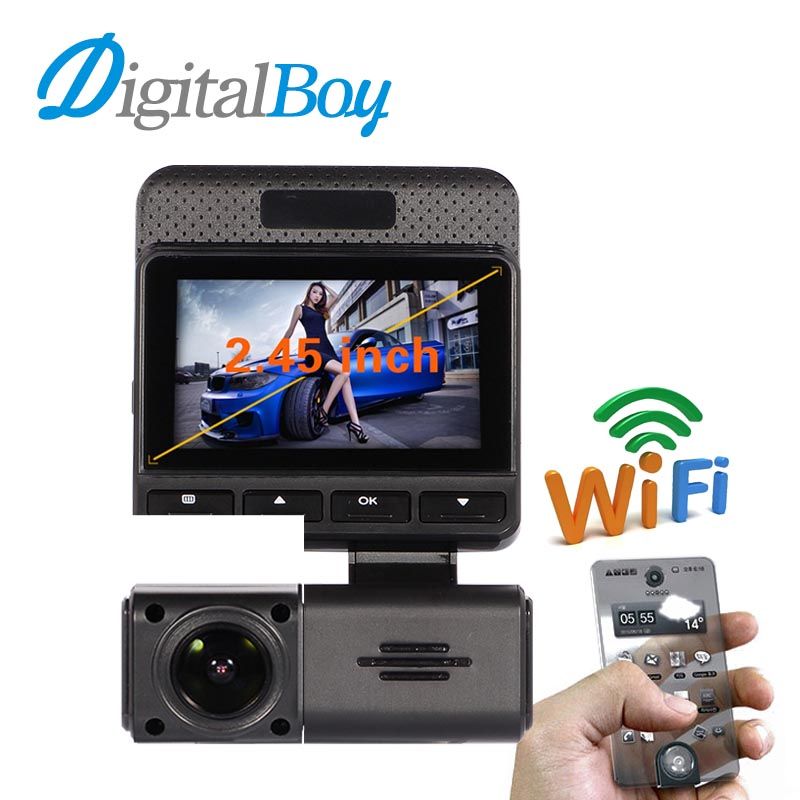 ФОТО DIGITALBOY Novatek 96658 Car Dvr Full HD 170 Degree Car Wireless WiFi Real Time Monitor App WDR Video Recorder Camcorder Dashcam