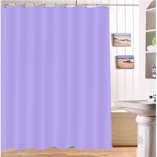 LB Light Purple Shower Curtains Bathroom Curtain Waterproof Polyester Fabric For Kids Woman Girl Bathtub Home Decor 180200