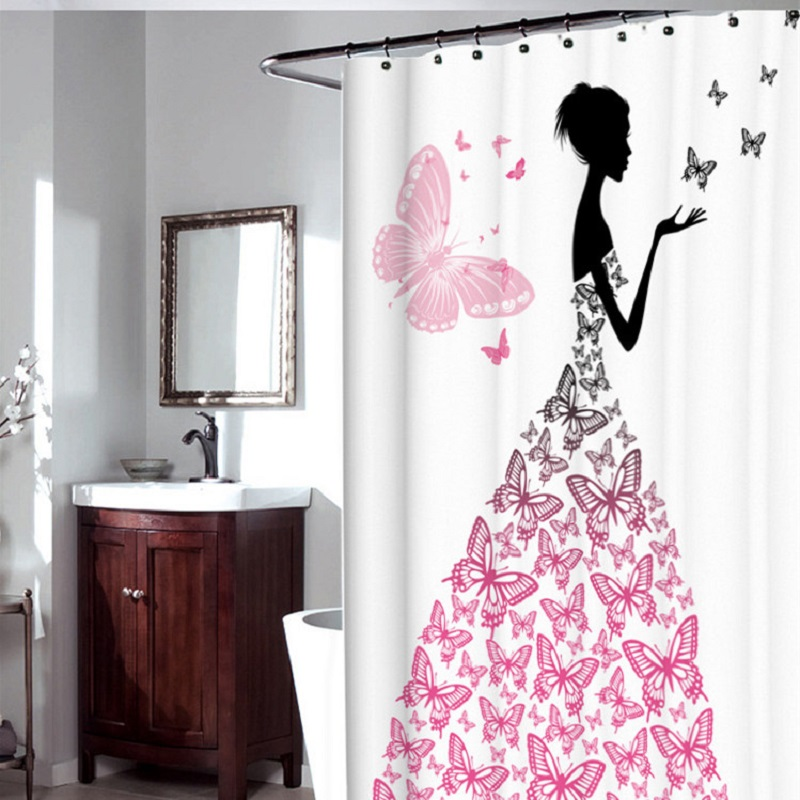 popular christmas shower curtain buy cheap christmas shower curtain lots from china christmas. Black Bedroom Furniture Sets. Home Design Ideas