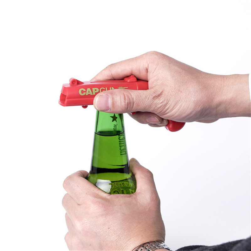 Image 3 - Creative Portable Beer Opener Cap Gun Bottle Opener Beer Bottles Open Capgun Drink Opening Shooter Bar Outdoor Celebration Tools-in Openers from Home & Garden