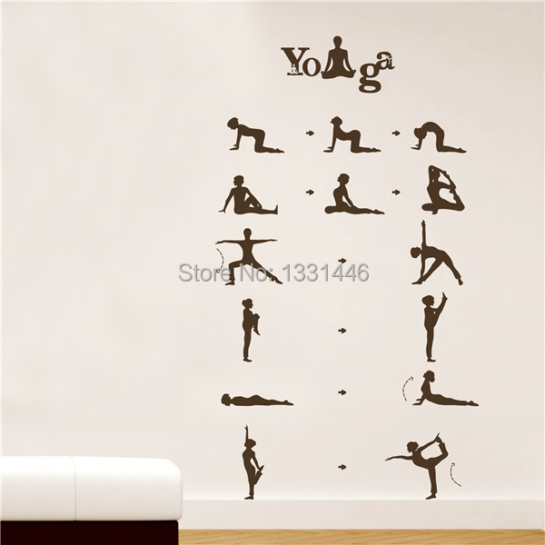Aliexpress.com Comprar Hermosa danza de la Yoga chica decoración del hogar  tatuajes de pared foto Wallpaper niñas decorativa sala de baile pegatinas  Yoga