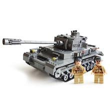 цена на Century Military Tank Cannon Armor F2 Model Building Blocks sets Bricks Educational Toys for Children Gift