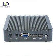 Hot selling Celeron J1800 fanless mini pc With Dual Core Slim plam computer with 2*LAN VGA nettop HTPC 2G RAM 32G SSD  TV BOX PC