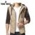 Tangnest com capuz inverno parka quente dos homens 2017 novo design de tamanho asiático m-3xl 3 cores patchwork plaid slim fit casaco mwm1505