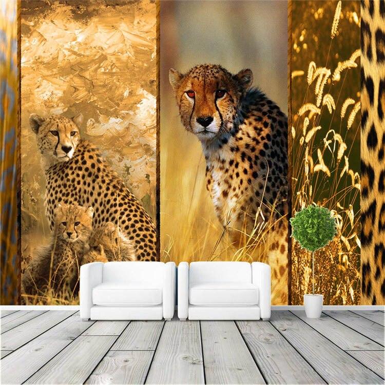 Wild africa mural unique leopard photo wallpaper poster for Murale unique