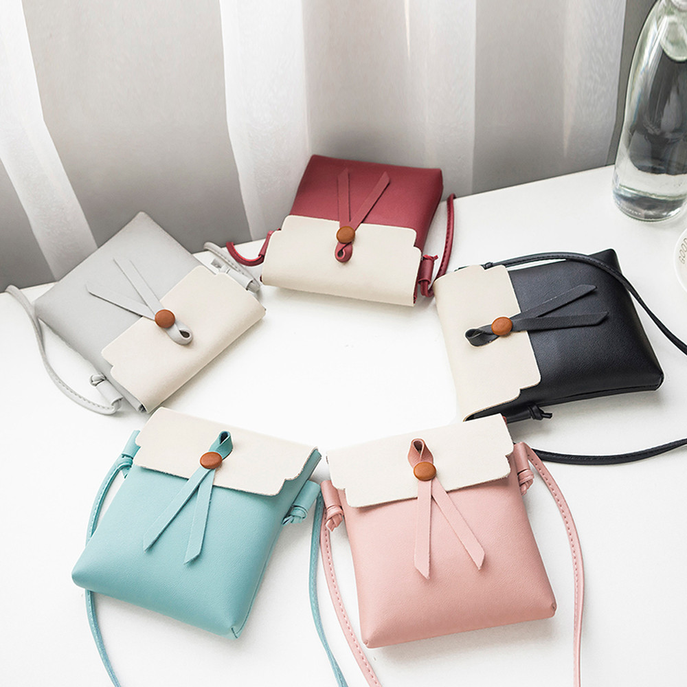 Women 2018 Fashion Cover Tassels Crossbody Solid Shoulder Bag PU Leather Vintage Handbag Multi-function Phone Coin Bags 10Jul 9 pu leather metal multi zips handbag