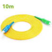10m SC APC to UPC PC G657A Fiber Patch Cable, Jumper, Cord Simplex 2.0mm SM Patchcord