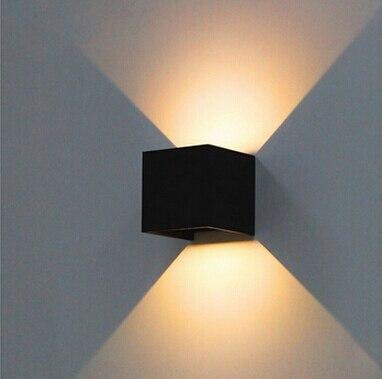 все цены на 7W outdoor led wall lamp IP67 aluminum adjustable surface mounted cube led garden porch light 10pc/lot Y-37 онлайн