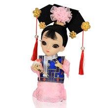 Q Cartoon Peking Opera Figurine Ornament Figure Ethnic silk Dollls Folk Handmade craft Gift new Furnishing Article  Home Decor цены