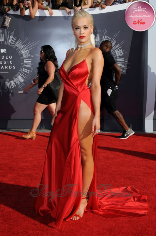 Aliexpress.com : Buy 2014 Rita Ora Red Carpet Dress Very Sexy ...