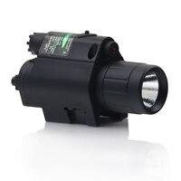 Free Shipping Tactical Combo 2in1 Green Dot Laser LED Flashlight Sight For Rifle Gun Shotgun Glock