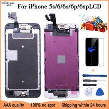 AAA +++ полная сборка для iPhone 6 6S Plus LCD с кнопкой возврата камеры завершенная замена экрана в сборе гарантия дисплея