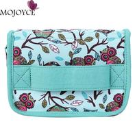 1Pc 20 Slot Essential Oil Bag Green Birds Pattern Portable Shock Resistant Essential Oil Carrying Storage