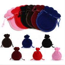 5x7/7x9/9x12cm jewelry bag Velvet Bag Drawstring Pouch Black Red Calabash Jewelry Packing Bags Wedding Christmas Gift Bag