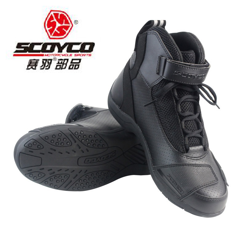 2017 New Scoyco motorcycle riding shoes off-road locomotive boots racing shoes boots winter warm size 39 40 41 42 43 44 45 motorcycle riding shoes men s waterproof spring anti falling knights boots cross country racing shoes road locomotive boots