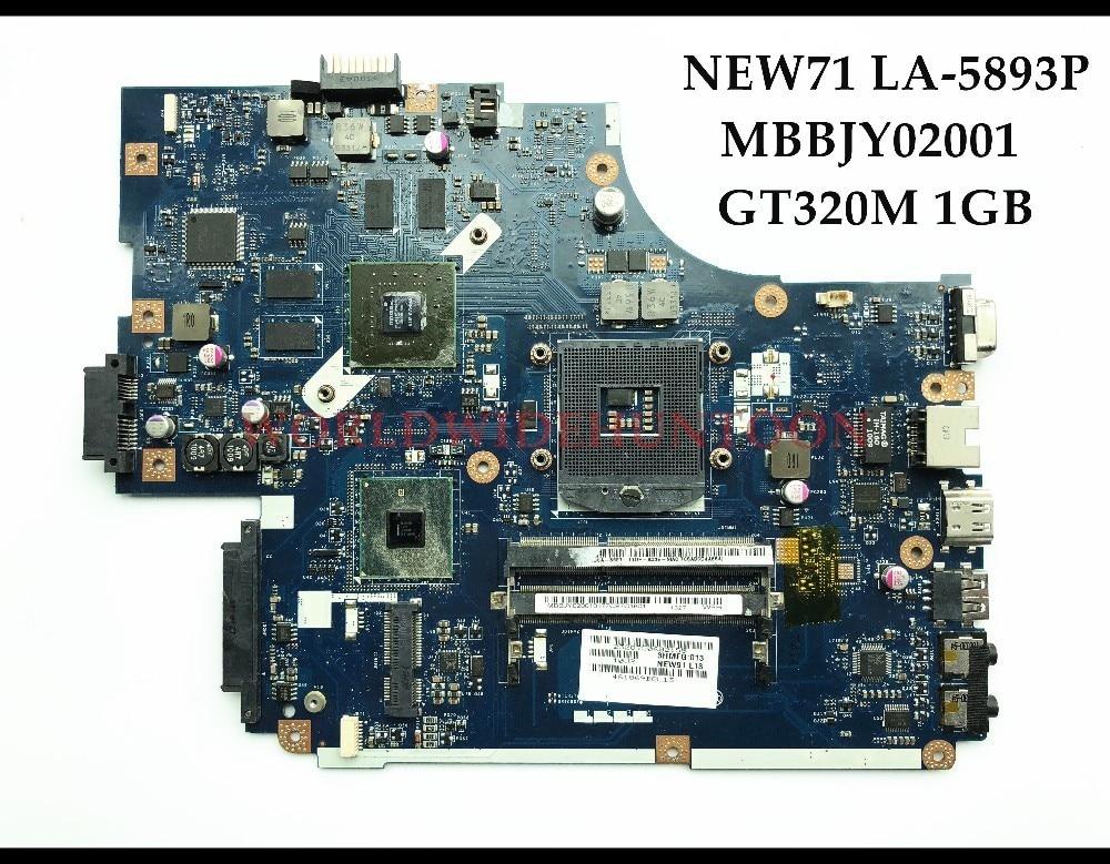 Высокое качество NEW71 LA-5893P для Acer Aspire 5742 5742 г Материнская плата ноутбука MBBJY02001 HM55 PGA989 DDR3 GT330M 1 ГБ 100% тестирование