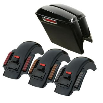 Motorcycle 5 Extended Saddlebag CVO Rear Fender For Harley Touring Road King Street Glide Electra Glide Ultra 2014-2020 motorcycle driver passenger seat for harley touring electra road king street glide road glide ultra limited flhr 2009 2020